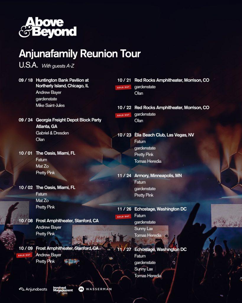 Anjunafamily Reunion Tour 2021