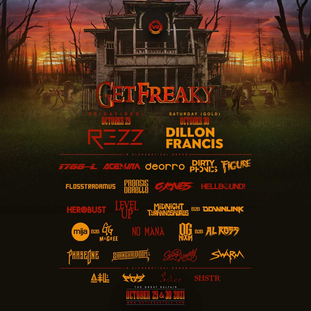 Get Freaky 2021 - Lineup By Day